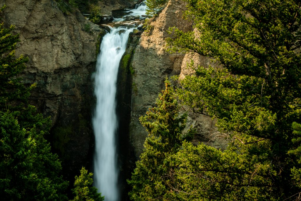 Tower Fall - Waterfall in Yellowstone National Park
